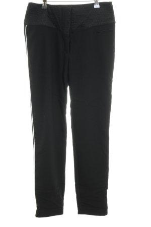 H&M Stoffhose schwarz-weiß Casual-Look