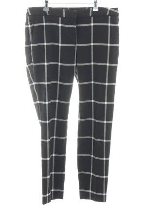 H&M Stoffhose schwarz-weiß Karomuster Casual-Look