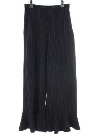 H&M Stoffhose schwarz-weiß Streifenmuster Elegant