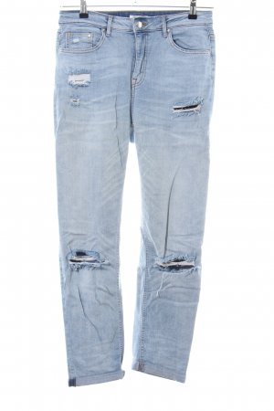 H&M Straight Leg Jeans blue casual look