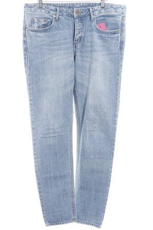 H&M Straight-Leg Jeans blassblau Casual-Look