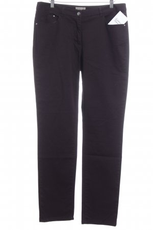 H&M Straight-Leg Jeans brombeerrot Casual-Look