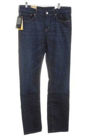 H&M Straight-Leg Jeans dunkelblau-stahlblau Casual-Look