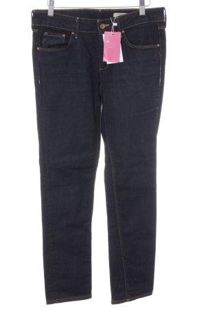 H&M Straight-Leg Jeans dunkelblau Street-Fashion-Look