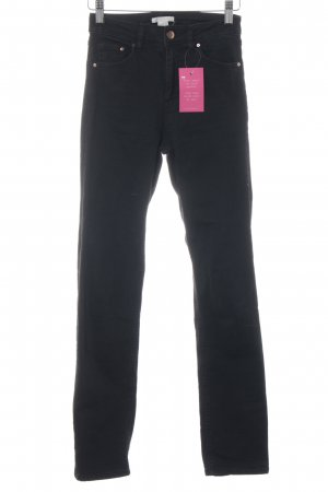 H&M Straight-Leg Jeans schwarz Casual-Look