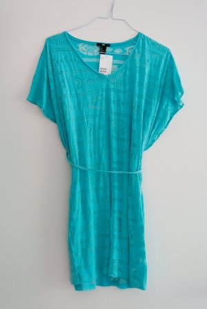 H&M Vestido playero azul claro Poliéster