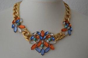 H&M Strass Statement Necklace Kette Gold Gliederkette