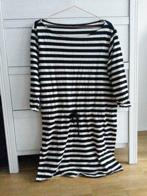 h&m Streifen Kleid schwarz/weiß M/40 lange Ärmel zara gestreift