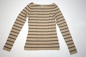 H&M Streifenshirt Gr. 36/S braun/schwarz