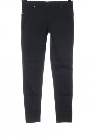 H&M Stretch jeans zwart casual uitstraling
