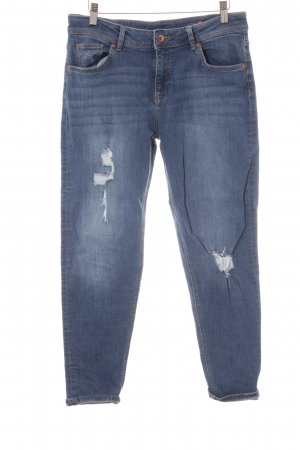 H&M Stretch Jeans blau Destroy-Optik