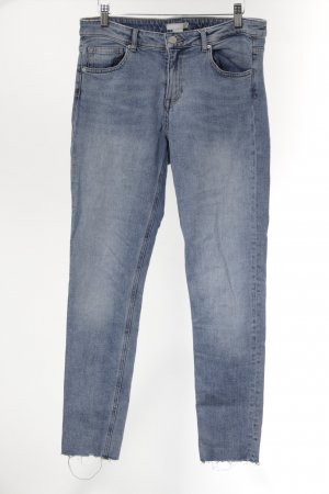 H&M Stretch Jeans kornblumenblau Casual-Look