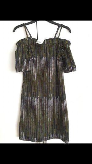 H&M Stretch Kleid gestreift Grün/weiß