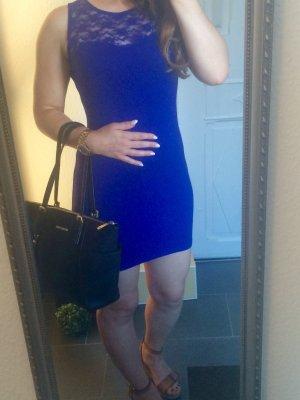 H&M Stretch Kleid Spitze blau Ge. 34/36 XS/S