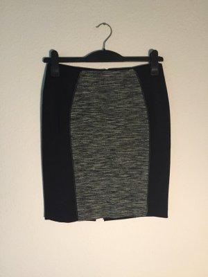 H&M Stretch-Rock grau schwarz meliert 38
