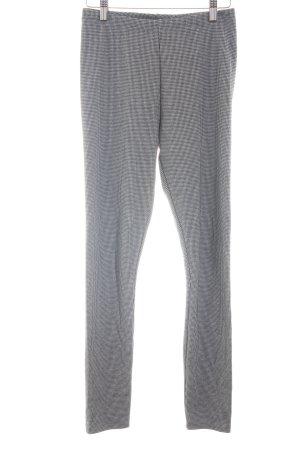 H&M Pantalón elástico negro-blanco look casual