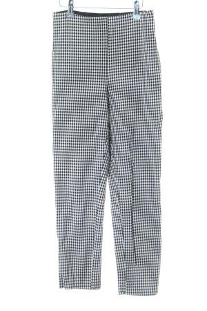 H&M Pantalón elástico negro-blanco estampado repetido sobre toda la superficie