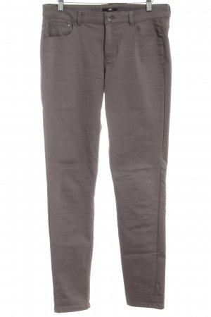 H&M Stretchhose hellgrau Casual-Look