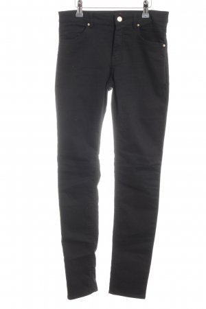 H&M Stretchhose schwarz Casual-Look