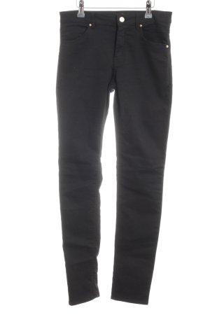 H&M Pantalón elástico negro Apariencia vaquera