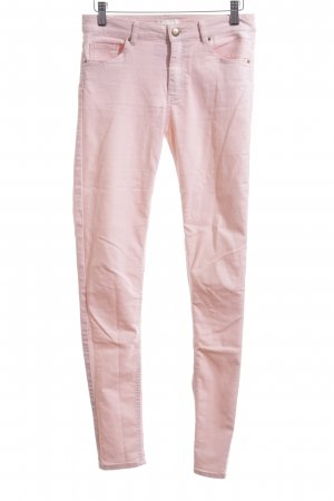 H&M Pantalón elástico rosa look casual