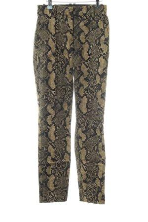 H&M Stretchhose khaki Allover-Druck extravaganter Stil