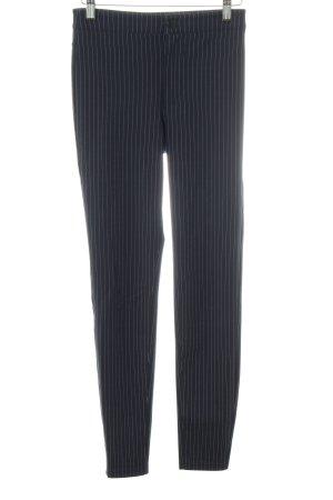 H&M Stretchhose schwarz-hellgrau Streifenmuster Business-Look