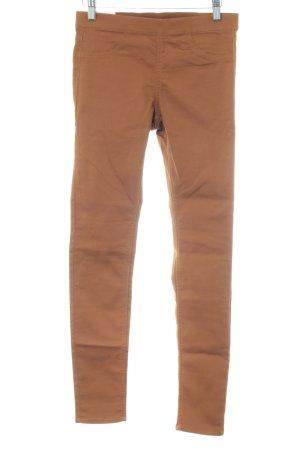 H&M Pantalón elástico marrón look casual