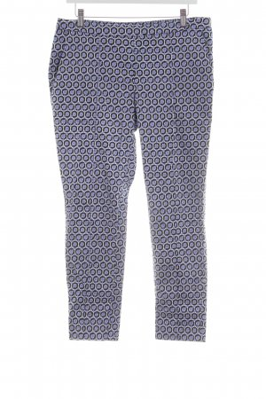 H&M Stretchhose blau grafisches Muster Casual-Look