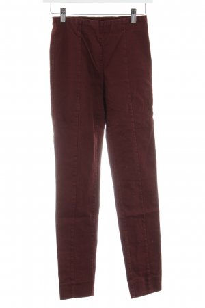 H&M Stretchhose bordeauxrot Casual-Look