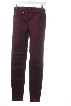 H&M Stretch Trousers bordeaux simple style