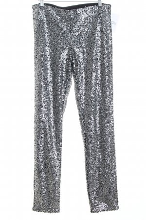 H&M Stretch Trousers black-silver-colored casual look