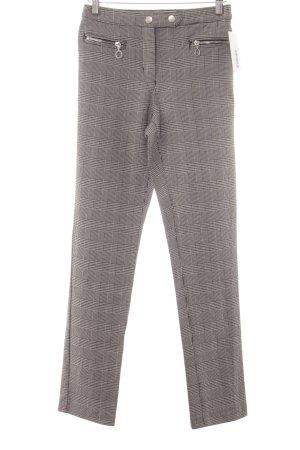 H&M Pantalón elástico negro-blanco estampado príncipe de Gales look «Brit»