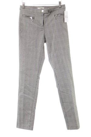 H&M Pantalone elasticizzato bianco-nero motivo a pied de poule stile casual