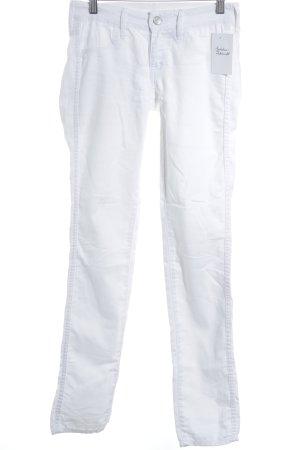 H&M Stretchhose weiß sportlicher Stil