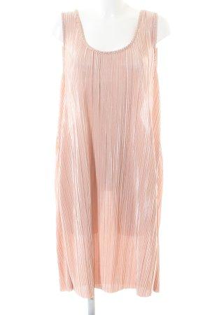 H&M Stretchkleid pink Streifenmuster Casual-Look