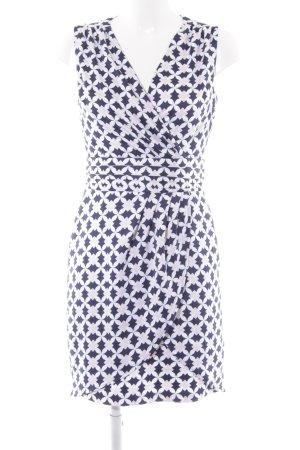 H&M Stretchkleid dunkelblau-altrosa Casual-Look