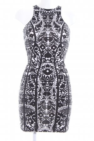 H&M Stretch Dress white-black allover print casual look