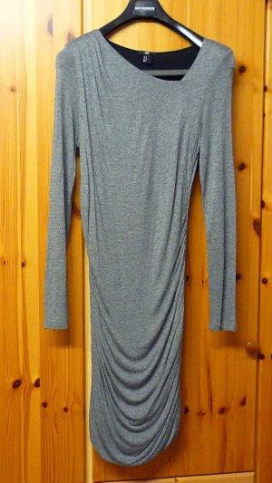 H & M Stretchkleid grau-meliert Gr. M (38 - 42) neuwertig