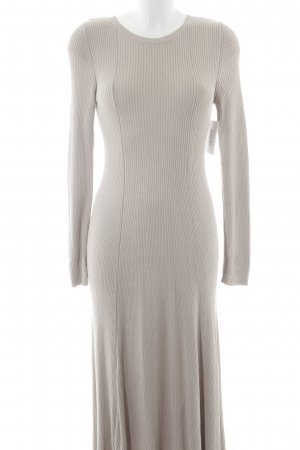 H&M Stretch Dress oatmeal loosely knitted pattern street-fashion look