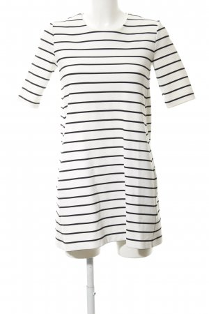 H&M Stretch Dress white-black striped pattern business style