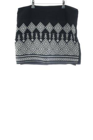 H&M Stretchrock schwarz-weiß grafisches Muster Casual-Look