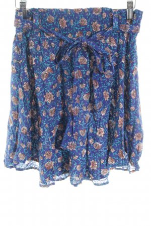 H&M Stretch Skirt blue-brown allover print casual look