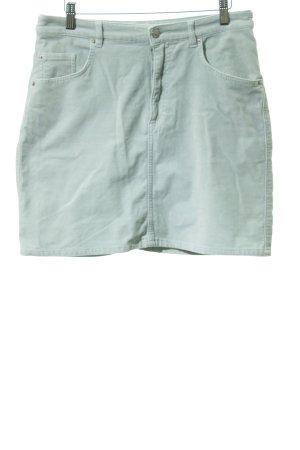 H&M Jupe stretch vert menthe effet velours