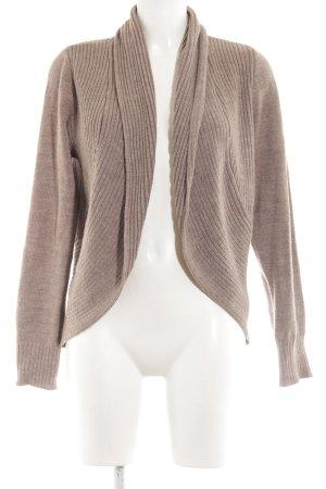 H&M Strick Cardigan braun-bronzefarben Zopfmuster Casual-Look