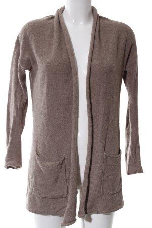 H&M Strick Cardigan bronzefarben meliert Casual-Look
