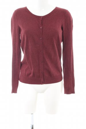 H&M Strick Cardigan rot meliert Casual-Look