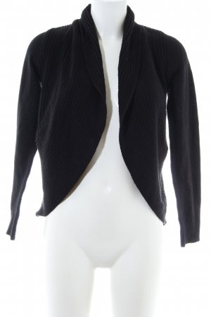 H&M Strick Cardigan schwarz Business-Look