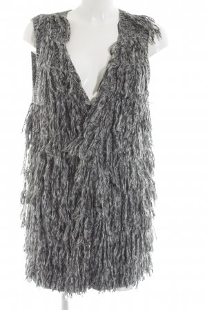 H&M Knitted Cardigan light grey-black casual look