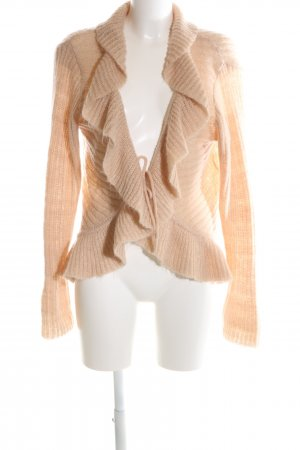 H&M Strick Cardigan nude Zopfmuster Casual-Look